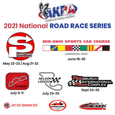 AKRA 2021 Road Race Series Schedule